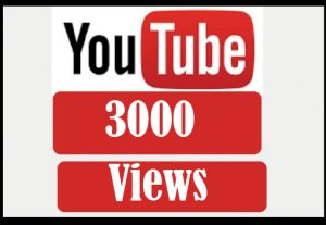 3000 youtube views, best quality and non drop