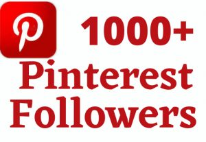 i will give 1000+ Pinterest followers life time permanent 100% Real