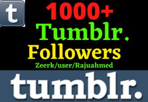 Add Instant 1000+ Tumblr Real Followers, 100% real, Non-drop and Lifetime Permanent