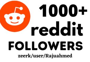 Get Instant 1000+ Reddit Followers, 100% real, Non-drop and Lifetime Permanent