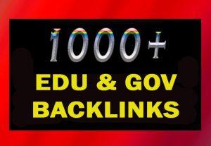 1000+ EDU and GOV high authority backlinks