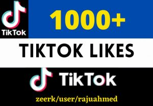 i will give you 1000+ Tik Tok likes non drop and permanent 100% organic life time
