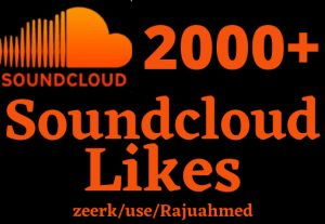 Get 2000+ SoundCloud  follower like Real life time permanent non drop But organic likes