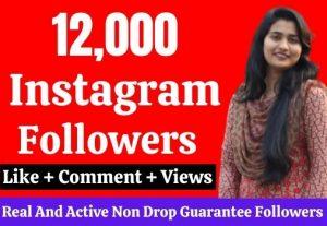 Get 19,000 real Instagram followers, No Drop, Lifetime Guarantee