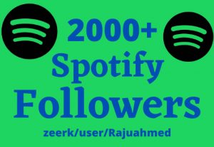 i will give you 2000+ Spotify followers non drop life time permanent