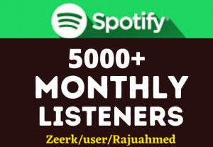 Get 5000+ Spotify monthly listeners