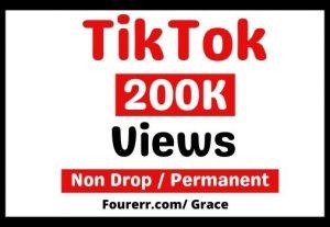 Get Instant 200K+ Tiktok Video Views, Non-drop, and Lifetime Permanent