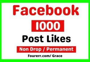 Get Instant 1000+ Facebook Post Likes, Non-drop, and Lifetime Permanent