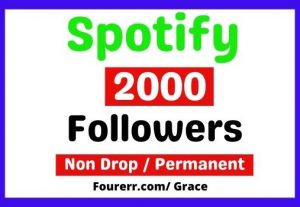 Get Instant 2000+ Spotify High-quality Followers, Non-drop, and Lifetime Permanent