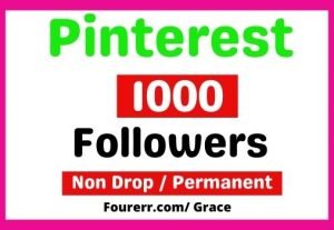 Get 1000+ Real Pinterest Followers, Non-drop, and Lifetime Permanent