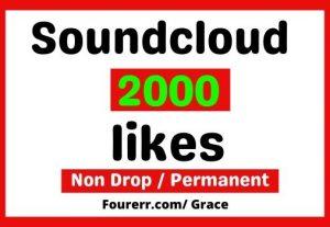 Get Instant 2000+ Soundcloud Track Likes, Non-drop, and Lifetime Permanent