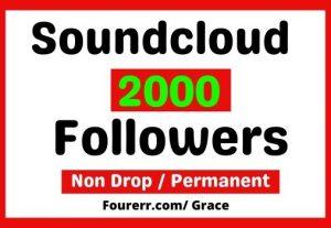 Get Instant 2000+ Soundcloud Followers, Non-drop, and Lifetime Permanent