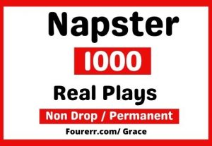 Get 1000+ Napster Plays, Instant Start, Non-drop and permanent