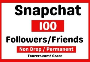 Get Instant 100+ Snapchat Followers / Friends, non-drop and permanent