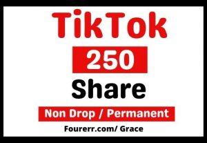 Get Instant 250+ Tiktok Share, Non-drop, and Lifetime Permanent