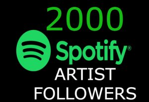 I will send you 2000+ spotify Artist followers