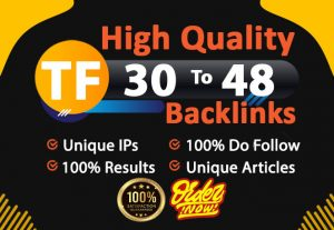 I will make 20 high tf cf dr permanent homepage dofollow backlinks