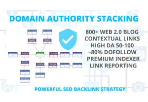 Domain authority stacking – increase trust, DA, and ranking