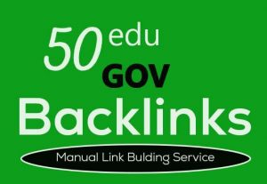 I will create 50 edu gov profile backlinks manually