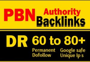 I will create 30 high DR 60 to 80 plus dofollow permanent homepage backlink off page SEO
