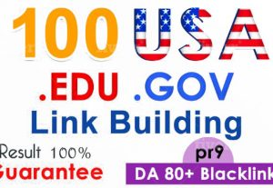 I will 100 USA SEO backlinks,edu white hat manual link building for google top ranking