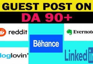 Write and Publish Guest Post on DA90+ High Domain Authority