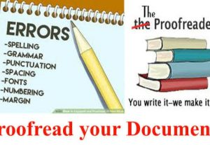 You will write it and I will double-check (proofread) it
