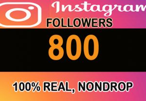 800+ H.Q 100% real, nondrop Instagram Followers with profile pictures and posts