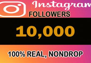 10,000 H.Q 100% real, nondrop Instagram Followers with profile pictures and posts