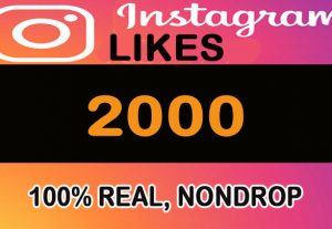 2000 Instagram Likes stable, Nondrop