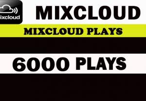 6000 World Mixcloud Plays. Real Active promotion