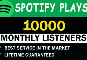 10,000 Spotify Monthly listeners From Usa