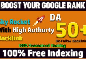 I will 50 high quality dofollow SEO backlinks high da authority white hat link building