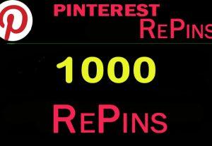 1000 Real Pinterest Repins or Pin Likes