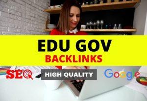 I will do 50 high quality edu gov profile backlinks