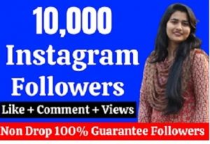 10000 Followers Instagram. Guarantee