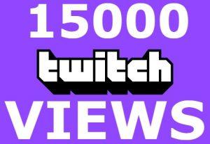 Send you 15,000+ twitch VIDEO VIEWS