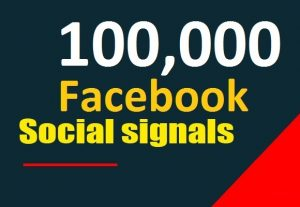 Facebook 100,000 Social Signals SEO Boost increase Google Ranking to your website