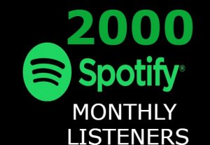 i will add you 2000+ Spotify Monthly Listeners