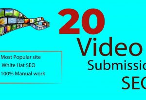 20 Most popular Video Submission High Authority Backlinks