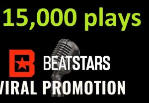 Get ORGANIC 15,000 BEATSTARS Plays From USA ,Real And Active Users