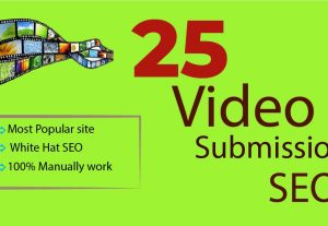 25 Video Submission Sharing  Permanent Backlinks