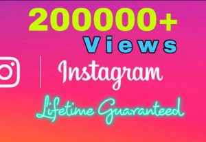 Get 200K video views on your instagram video post . High Quality.