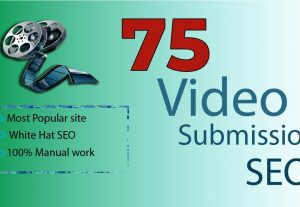 75 Popular Video Submission Sharing  Permanent Backlinks