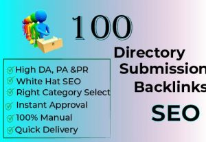 100 Directory Submission SEO Backlinks Boost Your Website Traffic and Ranking