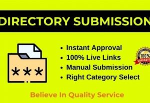 Manually 50 Directory Submission on Instant Approval web directories