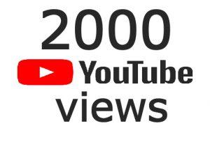 2000 youtube views – Non-Drop and Lifetime Guaranteed