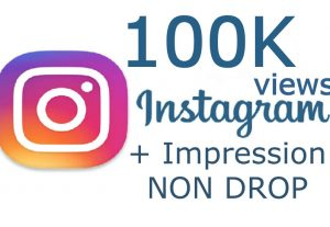 100K Instagram video view + Impression [USA or Worldwide] NON DROP