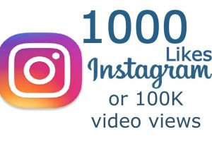 1000 Instagram Real Likes or 100K Instagram Videos Views from Real & Active Users Guaranteed