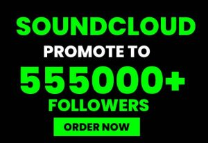 I WILL DO REAL SOUNDCLOUD MUSIC PROMOTION TO 555K USA LOVERS